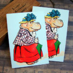 Mistress Hippopotamus April Showers Note Card