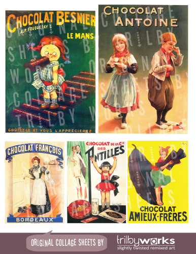 Vintage French Posters Advertising Chocolate