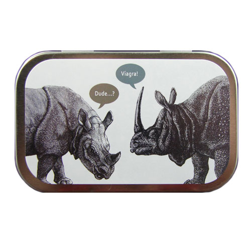 Horny Rhinoceros Mint Tin