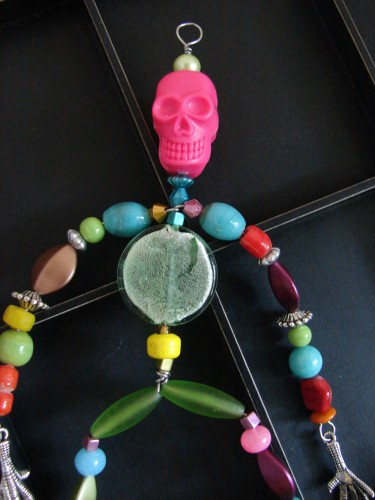 Beaded Skeleton Ornament