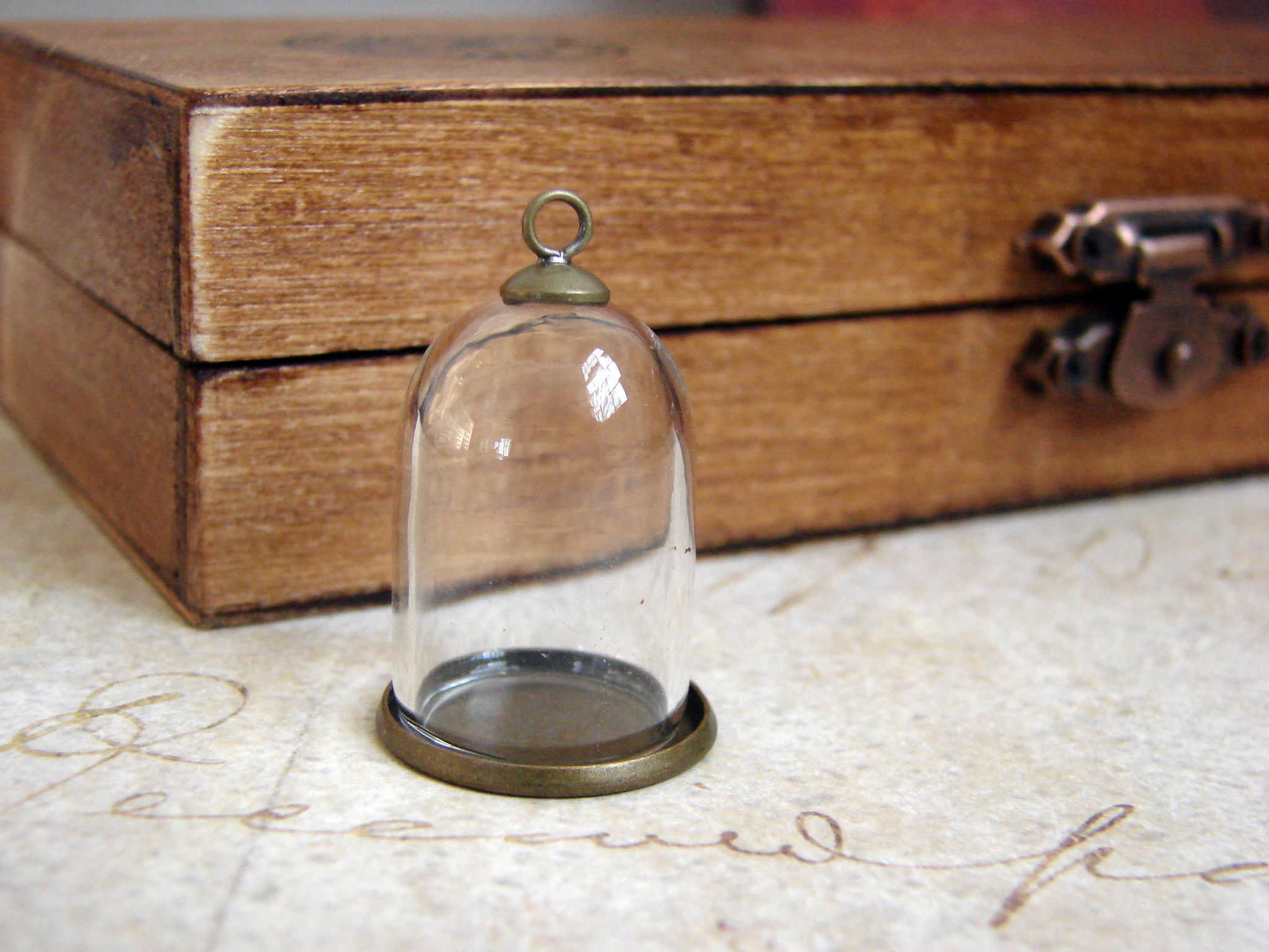 Diy Miniature Glass Dome Terrarium Necklace With Antique Brass Base Trilby Works