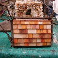 Beach Pebble Stacked Stone Fairy House in progress 05