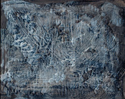 Textured Panel in Blue and Brown