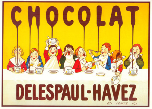 Chocolat Delespaul Havez Vintage French Poster