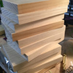 DE Fun-A-Day, Day 4, Stack of Boards Ready to Be Painted