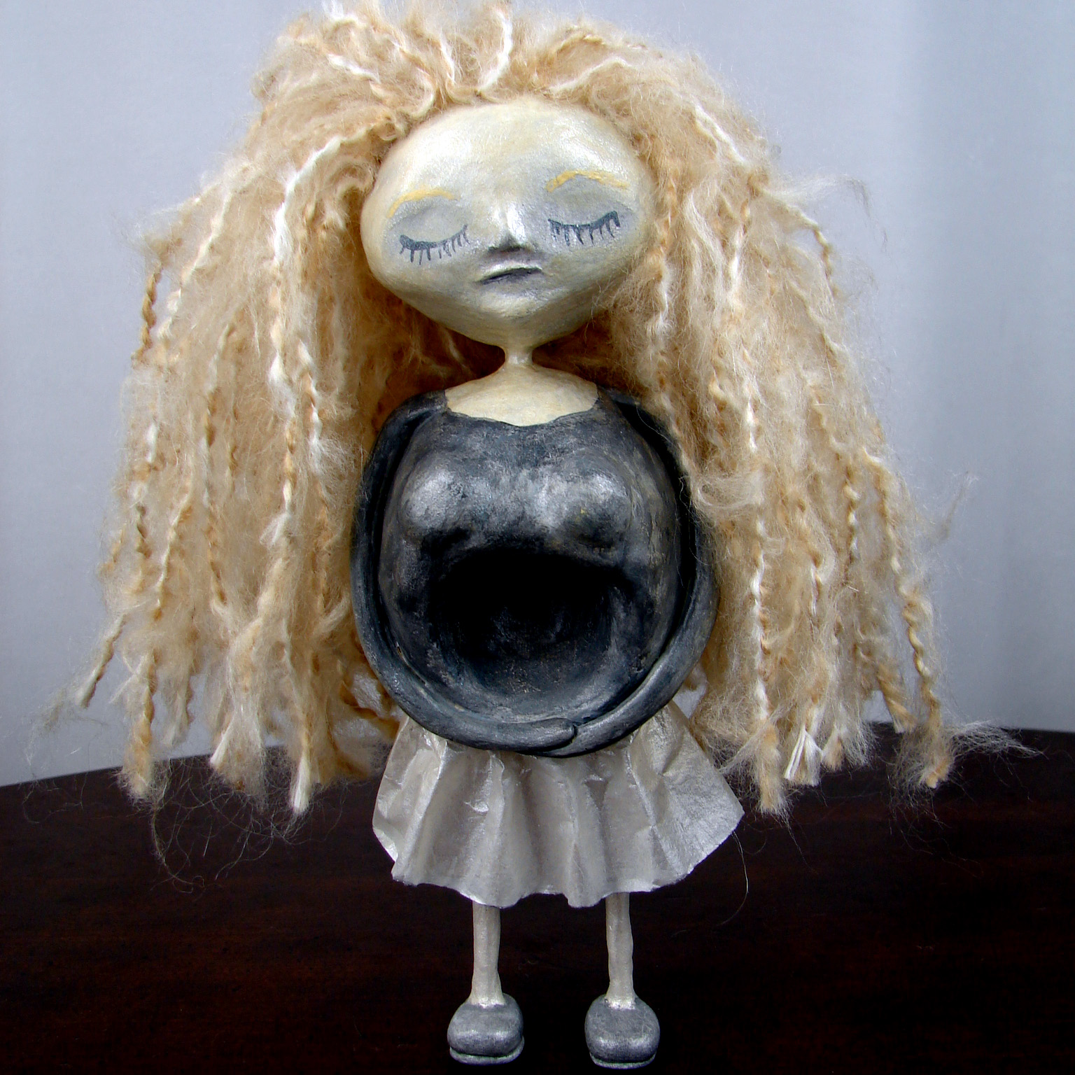 Sorrowful Sister Art Doll by Karen Furst of Trilby Works