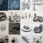 Diane Treacy Keesee, Pieces of My Day, in charcoal and graphite