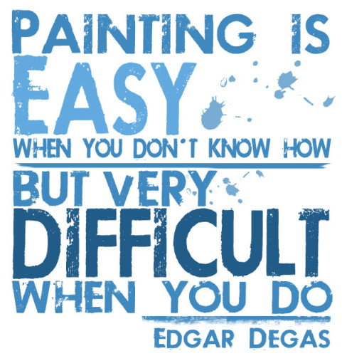 Edgar Degas, Painting is Easy Quote