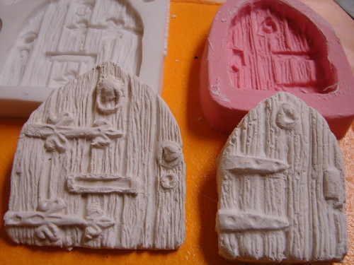 Fairy Doors From Mold by Karen Furst of Trilby Works