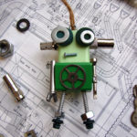 Green Gear Robot Ornament