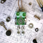 Green Loose Legs Robot Ornament