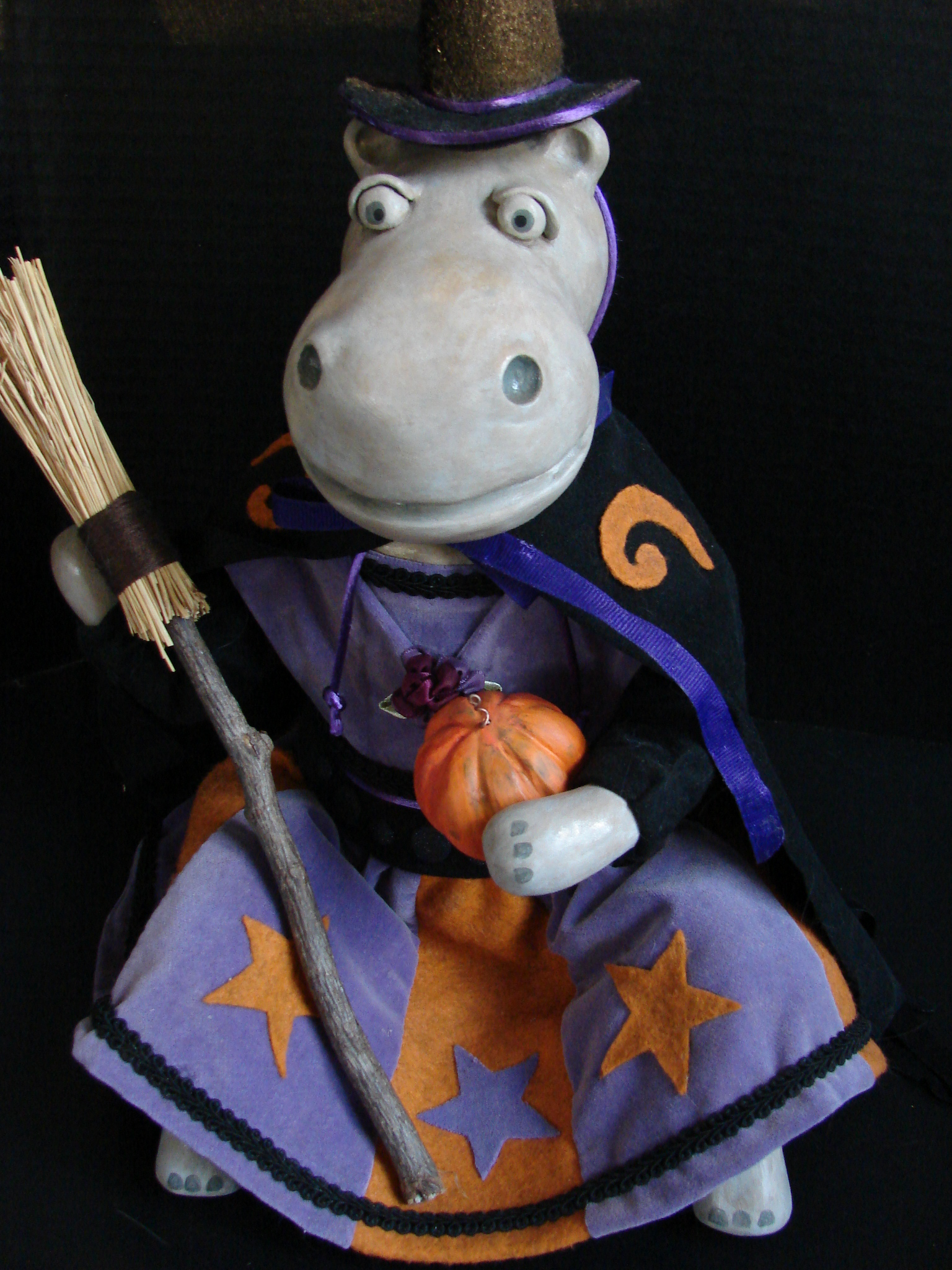 Hippo Witch by Karen Furst of Trilby Works