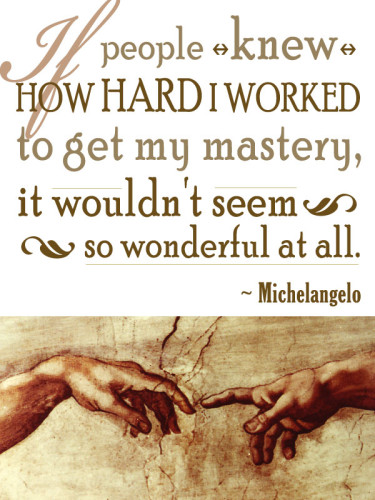 Michelangelo, Attaining Mastery