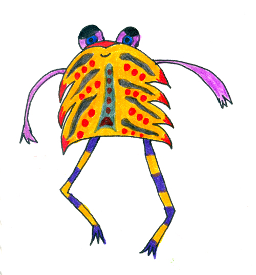 Orange Bug Creature