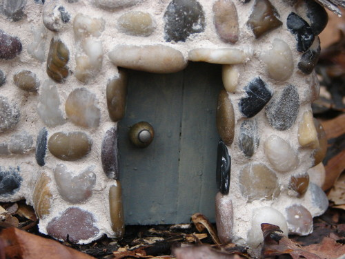 Pinecone Fairy Cottage Door