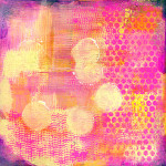 Pink & Yellow Shades Background for Collage Painting