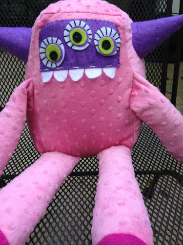 Pinky the Plush Horned Monster