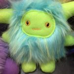 Plush Blue and Green Monster by Trilby Works