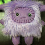 Small Lavender Plush Monster by Trilby Works
