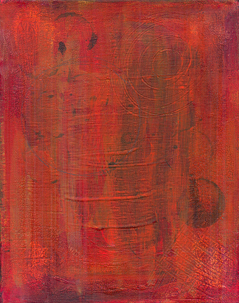 Red Shades Background for Collage Painting