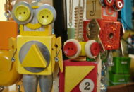 Robot Ornaments by Trilby Works