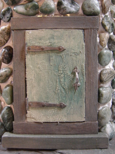 Slate and Sage Fairy House Door
