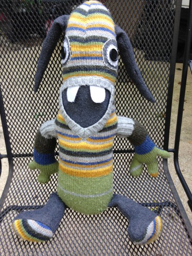 Striped Sweater Plush Monster