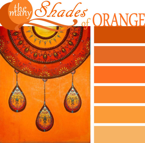 The Shades Of Orange