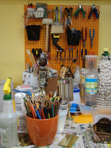 Work Table With Pegboard