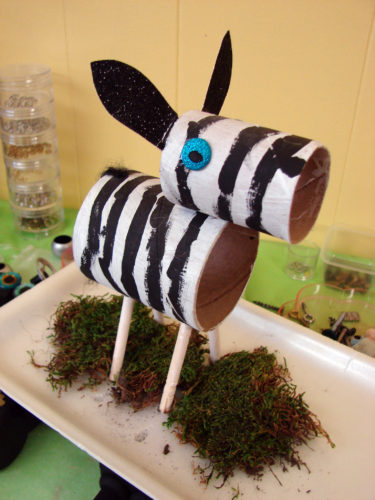 Zebra Toilet Paper Rolls Project for Kids