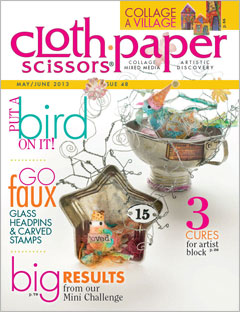 Cloth Paper Scissors Magazine cover, Issue 48, May/June 2013