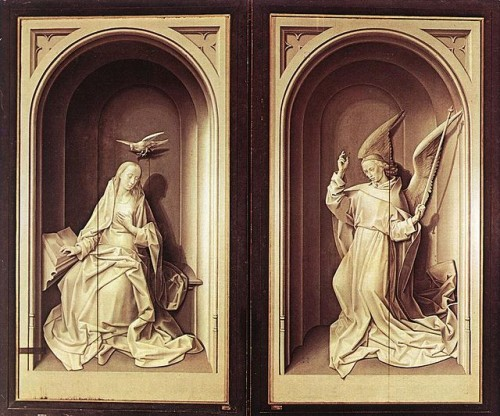 van der Goes, Hugo, Annunciation, Portinari Triptych Frontispiece, c1476
